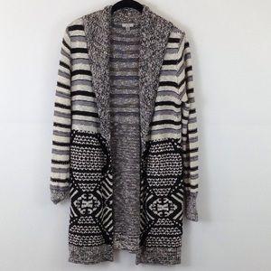 Urban Outerfitters black/grey/beige cardigan sizeM
